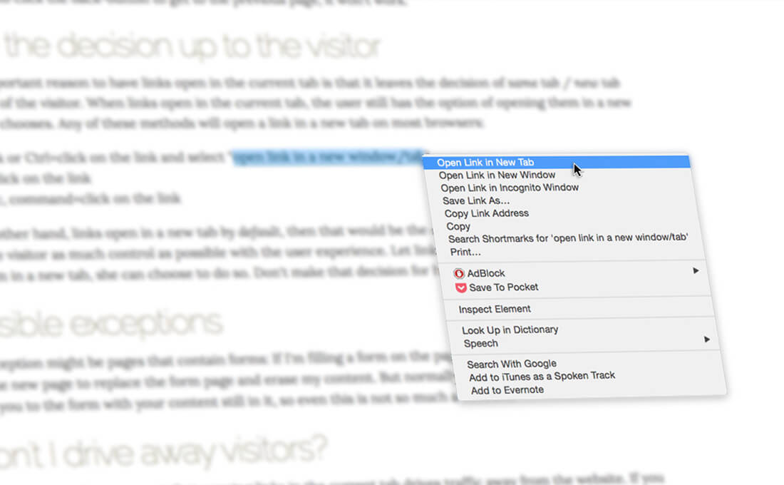 | Should external links open in a new tab or not?